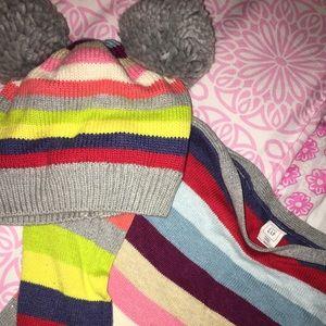 Gap Stripped Sweater Dress & Matching Hat
